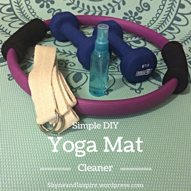 simple diy yoga mat cleaner shyne inspire. Black Bedroom Furniture Sets. Home Design Ideas