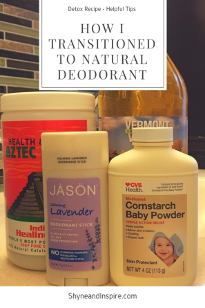 How I Transitioned to Natural Deodorant PIN