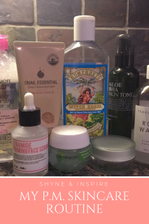 My P.M. Skincare Routine for Pinterest