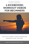 4 Kickboxing Workout Videos for Beginners by Shyne and Inspire PIN